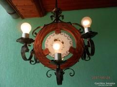 Egyedi 6 égős kovácsoltvas lámpa.