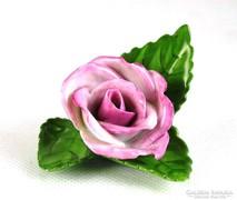 0K217 Régi Herendi jubileumi porcelán rózsa