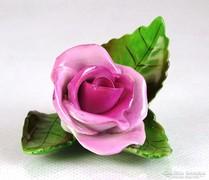 0K215 Régi Herendi porcelán rózsa