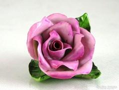 0K214 Régi Herendi porcelán rózsa 1944