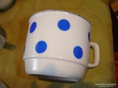 Zsolnay kék pettyes csésze  2dl