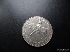 25 NEW pence Elizabeth II. Silver Jubilee 1977.