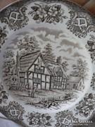 Angol porcelán tányér