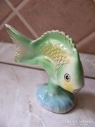 Hollóházi porcelán hal figura