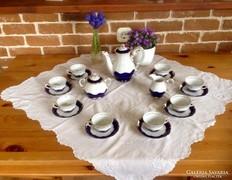 Zsolnay Pompadour kávéskészlet