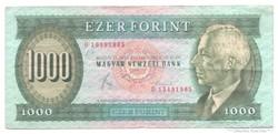 """1000 Forint 1983 """" D """" jelű  Bomba jó áron!!!"""