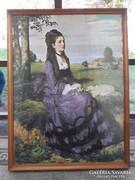 Lilaruhás nő