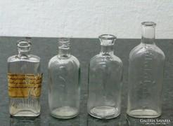 0K940 Régi orvosi üvegcse 4 darab