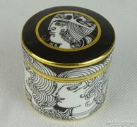 0L486 Szász Endre Hollóházi porcelán bonbonier