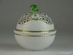 0L489 Régi hollóházi áttört porcelán bonbonier
