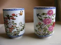 2 db japán porcelán pohár