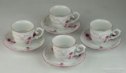 0L506 Hollóházi porcelán kávéskészlet 4 darab