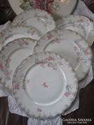 Csodás antik lapos tányérok 6db