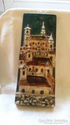 Kerámia fali kép Szentendre jelzett