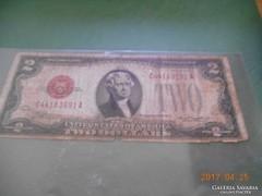 Ritka! 1928 D Piros Pecsétes 2 Dollár
