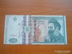 ROMÁNIA 500 LEI 1992 G SZÉRIA