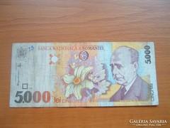 ROMÁNIA 5000 LEI 1998 A SOROZAT