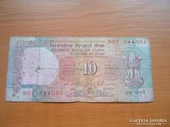 INDIA 10 RUPEE RÚPIA ND (1997)