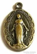 Antik Szűz Mária 1830 medál Csodás Érem