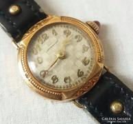 Antik Langendorf 14K arany női ékszeróra
