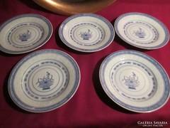 5 db rizsszem mintás  tányér  14 cm  0423