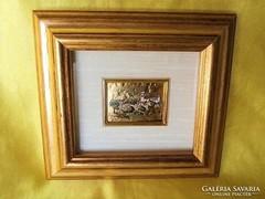 Miniatür arany (23K)lemezen,jelzett