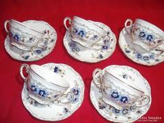 Zsolnay  búzavirágos  leveses csészék