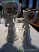 Puttós capodimonte eredeti jelzett porcelán kaspópár