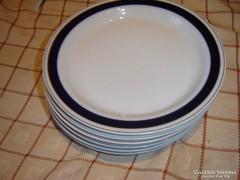 Hollóházi kék csikos tányér 6 darab