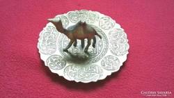 Réz teve hamutál tányér
