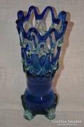 Szakított üveg váza ( DBZ 0076 / 2 )