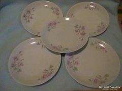5 db virág mintás süteményes tányér