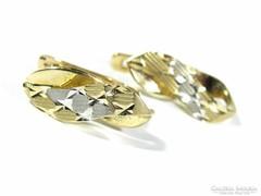 Metszett arany fülbevaló (Kecs-Au61873)