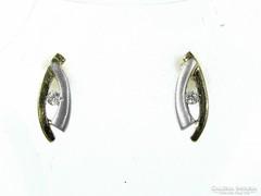 Kétszínű arany fülbevaló (Kecs-Au59872)