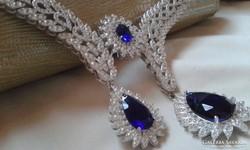 Masszív ezüst collier gyémánt csiszolású