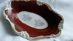 Porcelán aranyozott tál