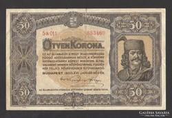 50 korona 1920. SZÉP BANKJEGY!!!