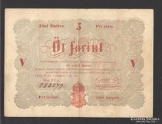5 forint 1848. Piros! NAGYON SZÉP!!!