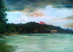 OlAJFESTMÉNY, Balaton, 50 x 70 ,Márton I. szignóval