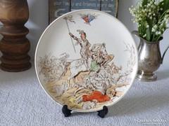 Antik, fajansz gyűjtői tányér 01