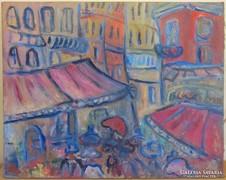 Czóbel Béla (1883-1976) nagyméretű festmény