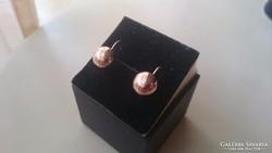 Arany 14 karátos Lencse fülbevaló (10 mm)