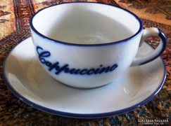 2 db kapucsínós  csésze + alj 9 x 6 cm