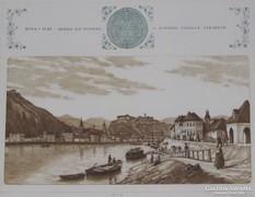 Szép keretben Gaal Domokos: Buda 1845. c. rézkarc