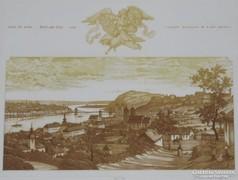 Keretezve! Gaal Domokos: Pest és Buda c. rézkarca