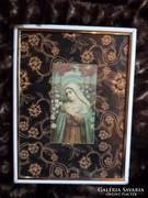 Imakönyvbe való szentkép, egyszerű keretben 20x15 cm