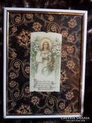 Imakönyvbe való szentkép ,egyszerű keretben 20x15 cm