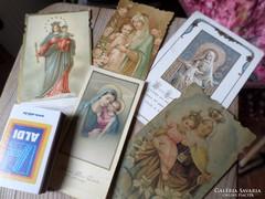 5 db imakönyvbe való , Máriás szentkép