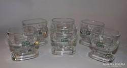 Szögletes formájú rövid italos poharak