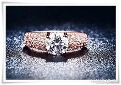 18 karátos arany - rose gold filled -gyűrű jelzett